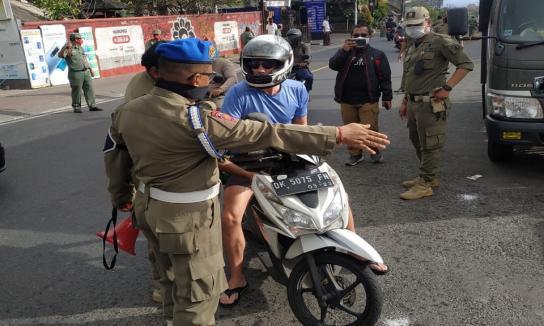 Sidak Penerapan Disiplin dan Penegakan Hukum Protokol Kesehatan Berdasarkan Pergub Bali No 46 Tahun